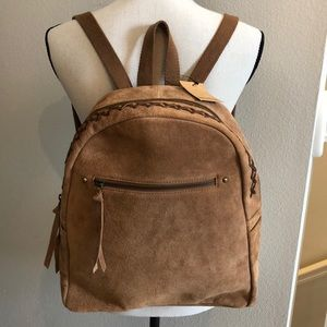 NWT Earthbound Trading Co. Camel Leather Backpack!